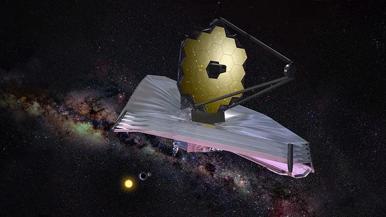 Ilustração artística do Telescópio Espacial James Webb