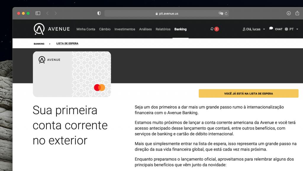 Avenue lançará conta corrente internacional para brasileiros (Imagem: Reprodução)