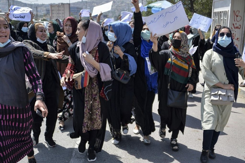 In Kabul, women are protesting alleged Pakistani interference in Afghan politics.  The Taliban dispersed a demonstration with bullets in the air |  Globalism